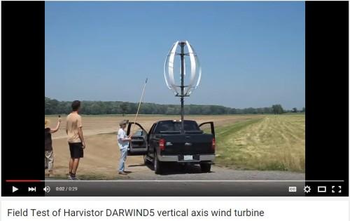 2012 Field Test of the Vertical Axis Wind Turbine Measuring 3.5 Meters