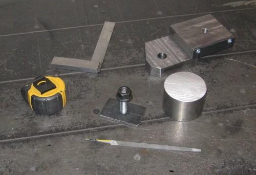 The Parts Used to Create the Lathe Radius Turning Unit